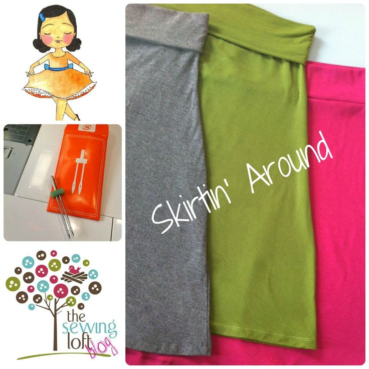 simple jersey skirt tutorial. I heart jersey skirts.