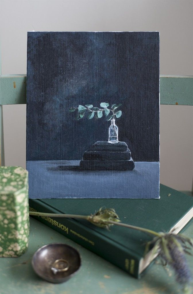 How to paint with acrylic paint.  A helpful guide on how to draw still life for beginners.   BLOMSTRANDE | Måla ett stilleben med akrylfärg | http://blomstrande.com