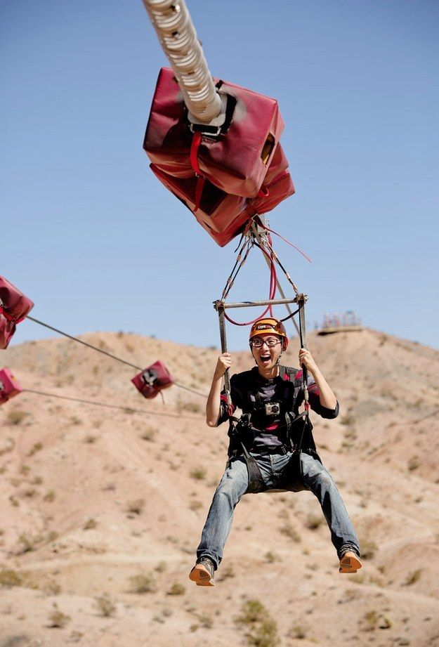Zipline through Bootleg Canyon.   17 Things You Didn't Know You Could Do In Las Vegas