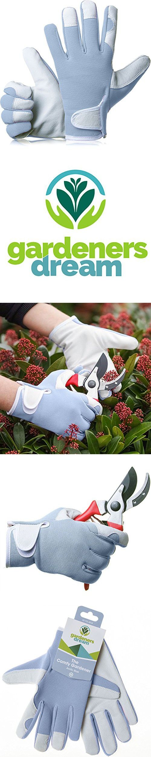 Leather work gloves ebay - Gardenersdream Leather Gardening Work Gloves Medium Comfy Slim Fit Premium Quality Gloves