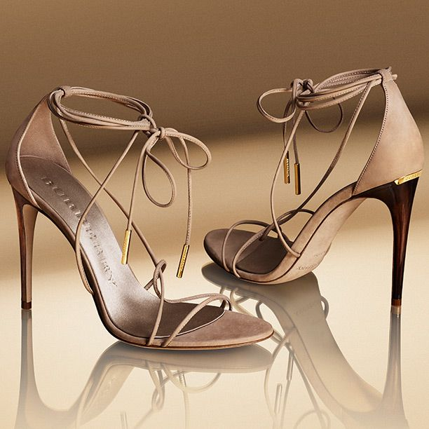 Slim strap evening sandals, designed to celebrate the launch of the new My Burberry fragrance $695 Fall 2014 #Burberry #Shoes