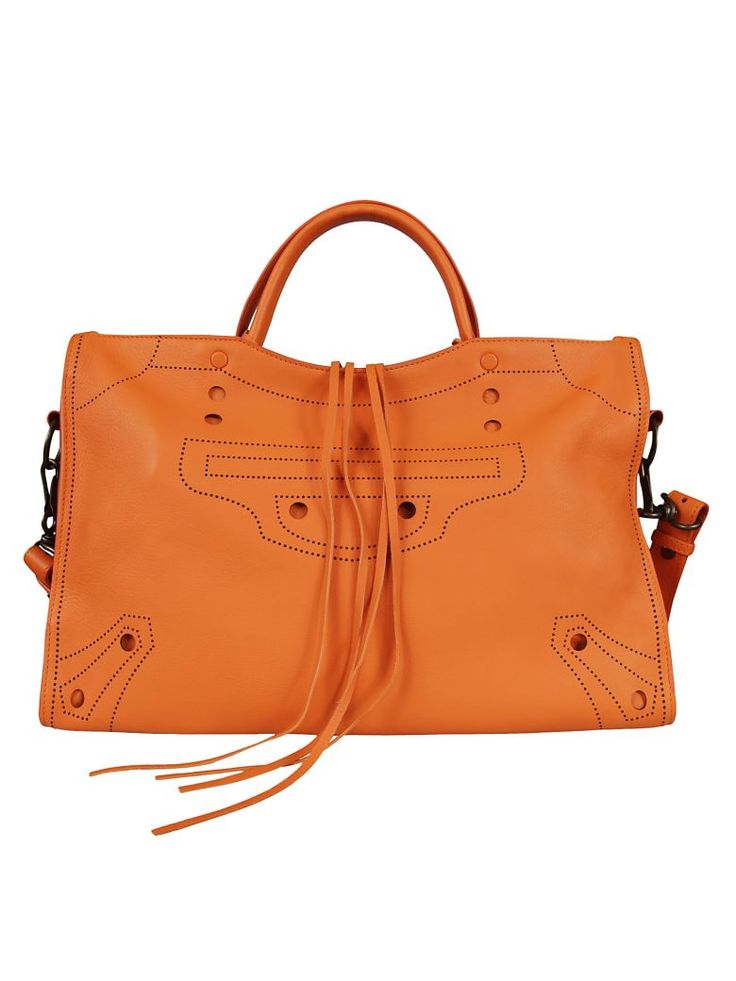 Best price on the market at italist.com Balenciaga  Orange  SHOULDER BAGS.