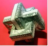 Magic Rings ~ http://www.origami-resource-center.com/more-dollar-bill-origami.html