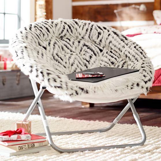 espresso kilim faux fur hang a round chair pbteen 159. Black Bedroom Furniture Sets. Home Design Ideas
