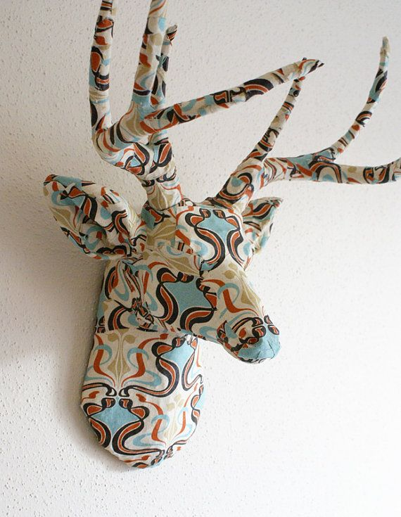 Decoupage Deer  @Cait Roccattasio: thought of you!
