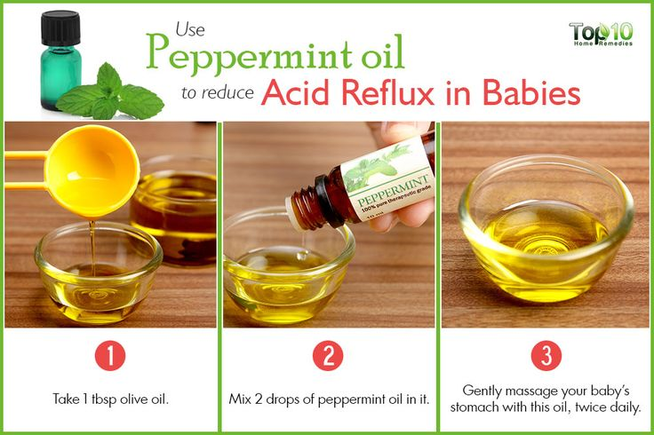 use peppermint oil to treat acid reflux in babies