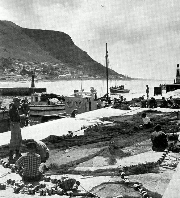 Fisherman repairing their nets at Kalk Bay 1960| Flickr - Photo Sharing!