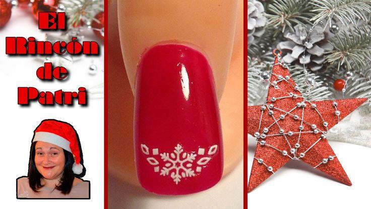 Diseño de uñas francesas de Navidad de El rincón de Patri Nail Art. Sigue todos nuestros diseños de decoración de uñas en http://www.rincondepatri.com Christmas French Nail Art
