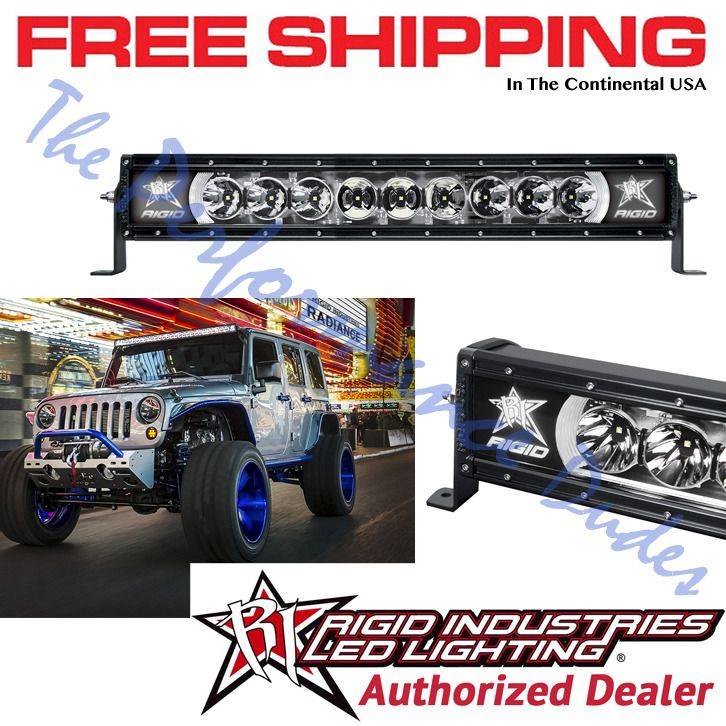 Same Business Day Shipping Rigid Industries Radiance+ 20 inch White Back-Light LED Light Bar - #220003