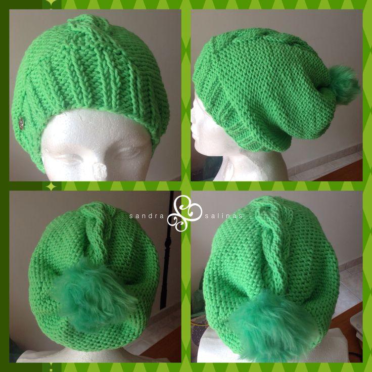 Gorra verde neón