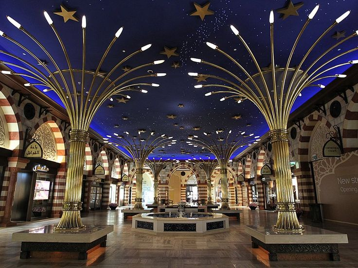 The Gold Souk is another touted feature of the Dubai mall. It has more than 200 stores.