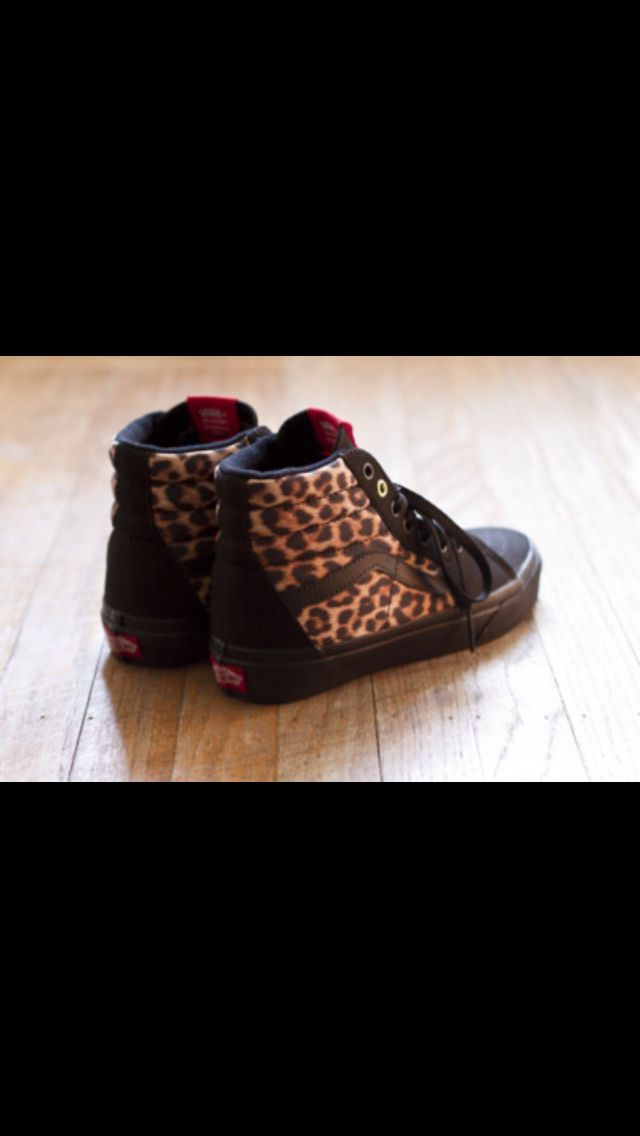 Leopard high top Vans.