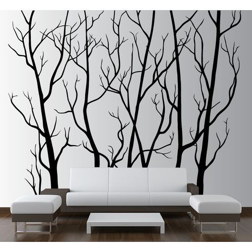 Found it at Wayfair - Tree Forest Branches with Birds Wall Decal