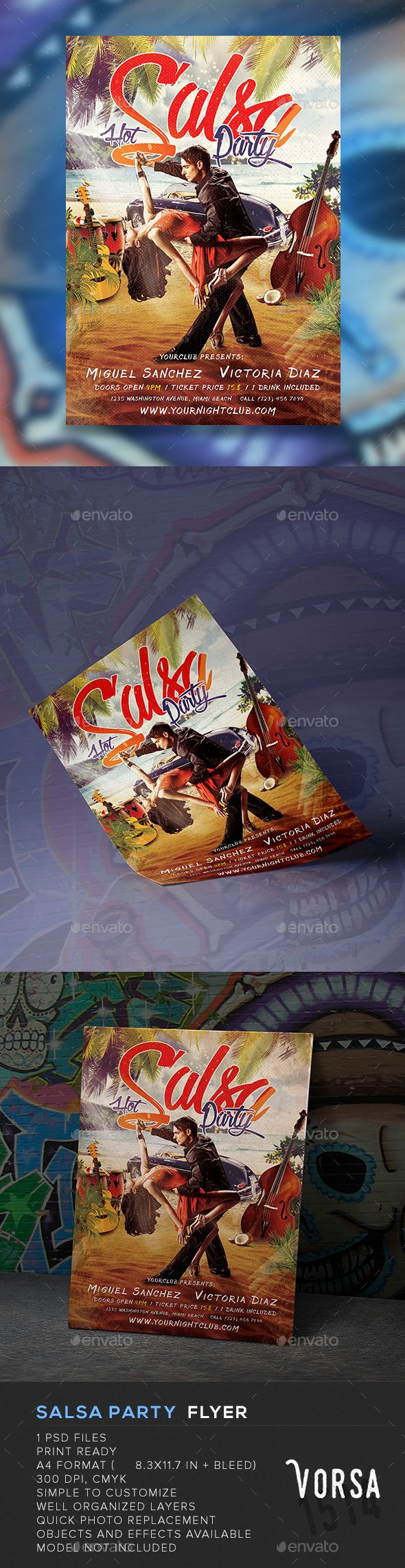 Salsa Party Flyer - Clubs & Parties Events