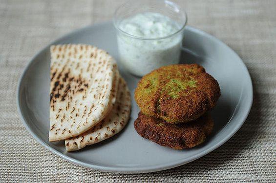 World's Easiest Falafel and Tzatziki -- just add warm pita. # ...