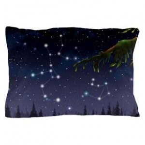 Nighttime sky and stars - pillow case