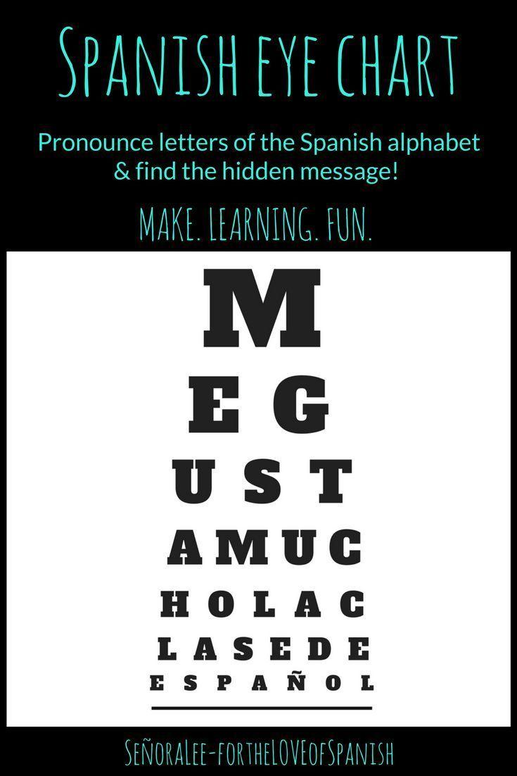 Spanish Alphabet Eye Chart Make Reciting The Letters Of The Spanish Alphabet Fun Tape The Poster To A W Spanish Alphabet Spanish Alphabet Activities Spanish [ 1102 x 735 Pixel ]