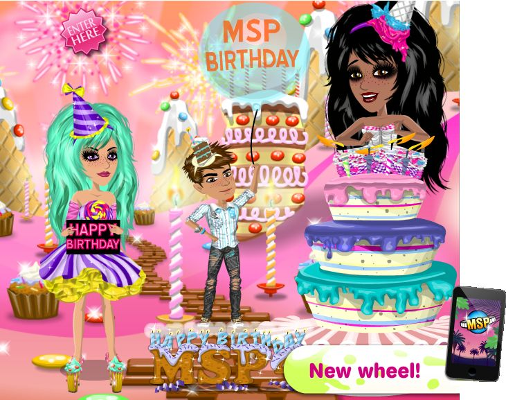 #MSP Birthday theme #moviestarplanet www.moviestarplanet.com