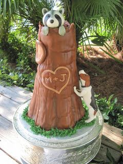 Shut your mouth!! I MUST have a cake like this at one of my wedding functions...  Heather's Cakes and Confections: Coon Hunter