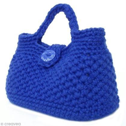 Sac à main en crochet bleu roi                                                                                                                                                                                 Plus