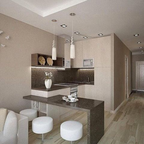 Кухня в квартире-студии✨ #ИнтерьерДекор_Кухня