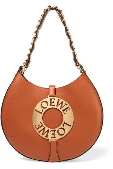 Loewe - Joyce Embellished Leather Shoulder Bag - Tan - one size