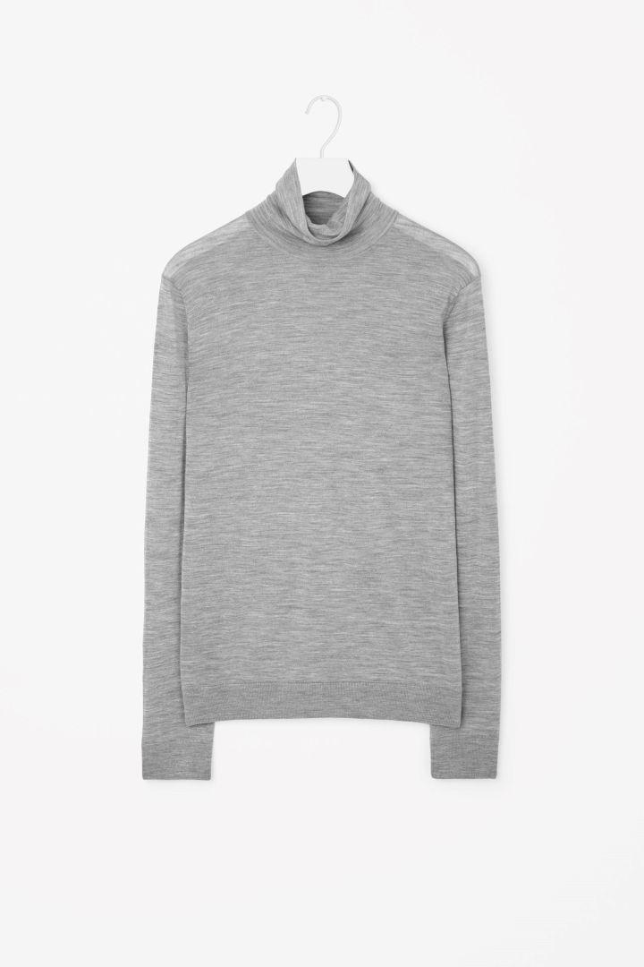COS   Merino roll-neck jumper