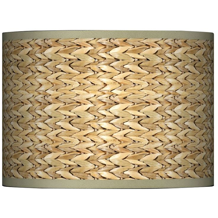 Seagrass Giclee Glow Lamp Shade 13.5x13.5x10 (Spider) - Style # 37869-N0558