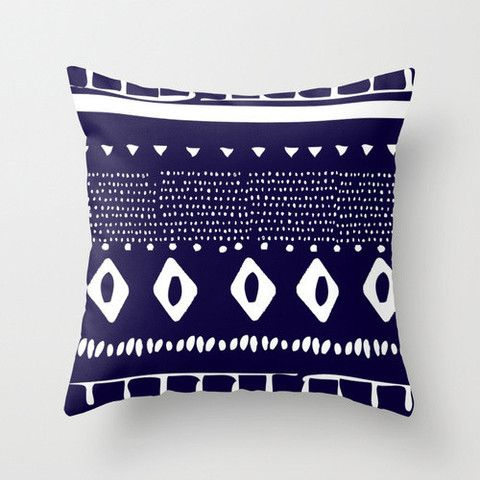 Navy Aztec Cushion