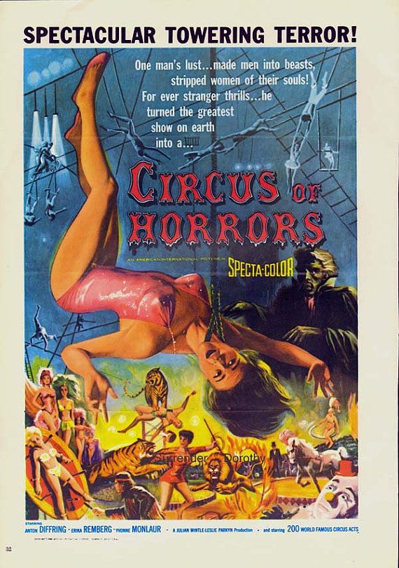 Circus Of Horrors 1960s Sci Fi Horror Movie par SurrenderDorothy, $13.89/11€