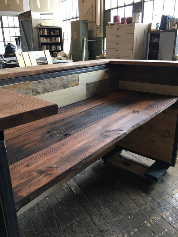 Indistrial Style Reclaimed Wood Reception Desk - 8 Best Images About Reception Desk On Pinterest Receptions