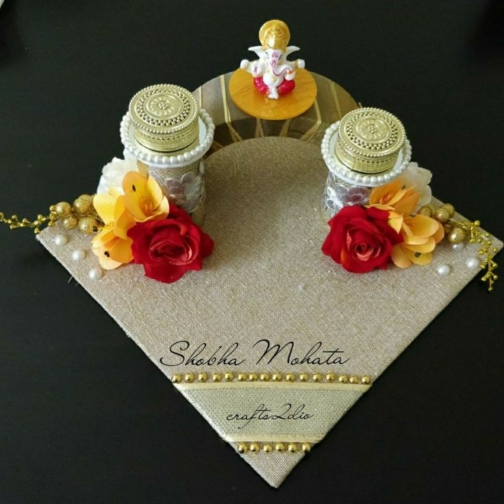Engagement ring platter  #crafts2dio #trousseaupacking