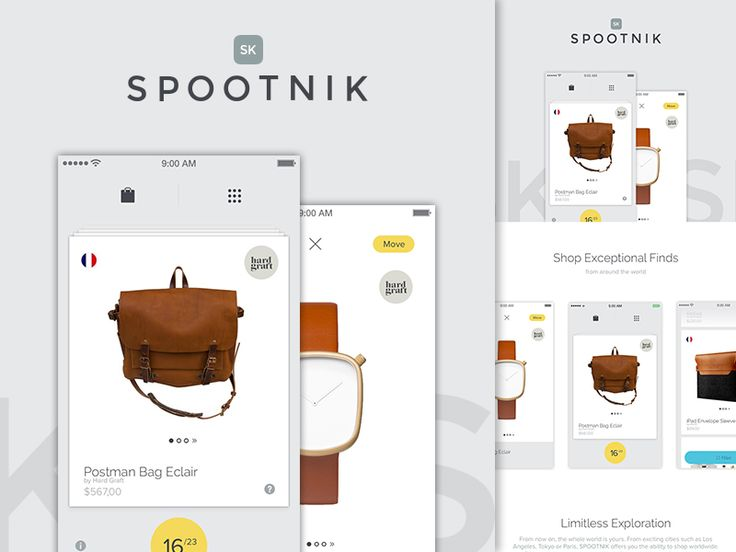Spootnik App On Behance by Barthelemy Chalvet for AgenceMe