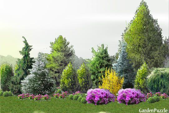 pod płotem - GardenPuzzle - projektowanie ogrodów w przeglądarce