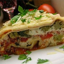 Hearty Vegetable Lasagna - Allrecipes.com.  See 3rd review for additions.
