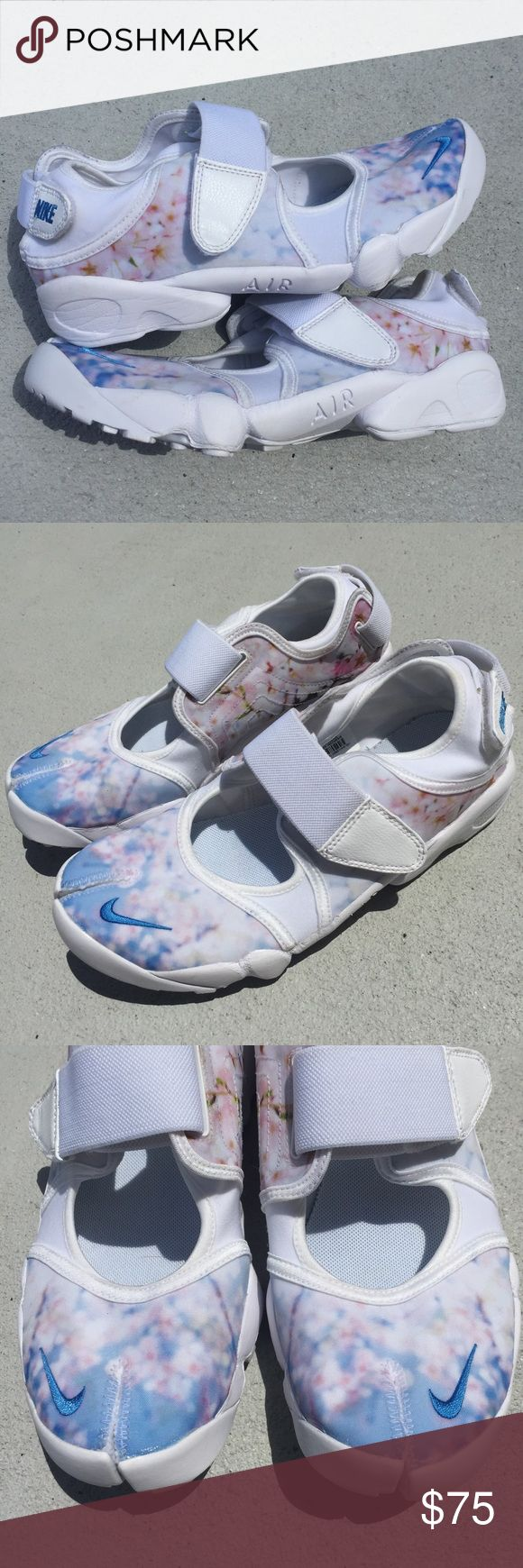 Nike Air Rift Cherry Blossom Running Shoes 10 Sold out online! Size 10 women's. Nike air rift running shoes. Has two straps and split toe design. Nike Shoes Sneakers