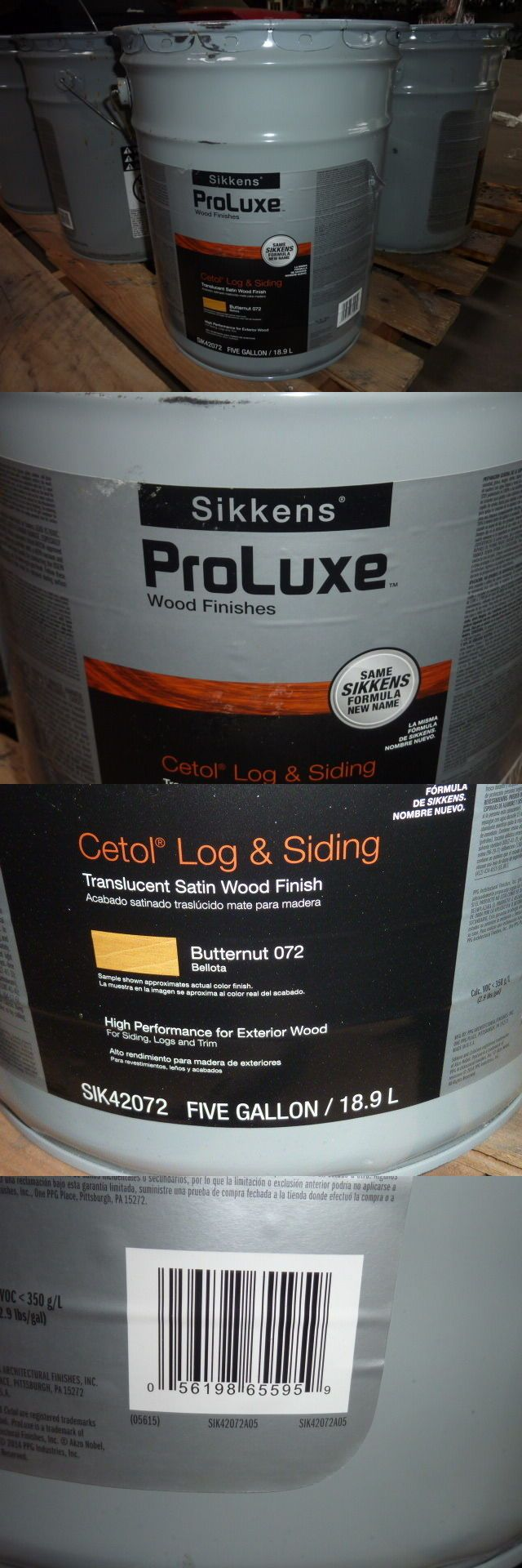 Other Paint and Varnish 180980: 5 Gallons Sikkens Cetol Proluxe Wood Finish Log And Siding Butternut 072 -> BUY IT NOW ONLY: $339.99 on eBay!