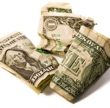 Fold money into a christmas tree shape