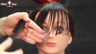 Side Bangs haircut or Sweeping Bangs-Fringe tutorial - YouTube- AWESOME