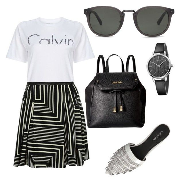 """Calvin Klein"" by szlzsnb on Polyvore featuring Calvin Klein"