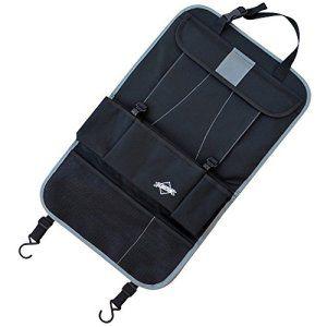 % VENTE FLASH % Protection de siège noire – Idéal comme organisateur pour les voyages d'affaires ou de protection de siège arrière pour les…