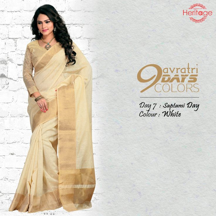 Add a little more festivity to the 9 days of fasting & prayers with the #Navratri colour theme. Wear '#White' on Day 7 & pay your respects to Devi Kalratri!