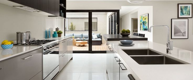 Caesarstone benchtops, Smeg cooker, pot drawers, soft close drawer runners. Perfect! Milan | Arden Homes www.ardenhomes.com..au