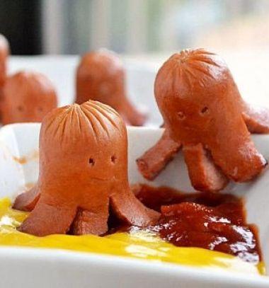 Octopus sausages - fun party snack for kids // Virsli polipok - party falatkák gyerekeknek // Mindy - craft tutorial collection
