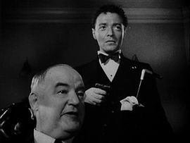 Left to right: Sydney Greenstreet and Lorre in The Maltese Falcon (1941), the first of nine films together