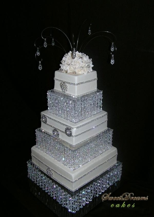 Bling wedding cake bling-wedding-cakes, menos los colgijes arriba