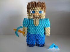 Origami 3D - Steve do Minecraft