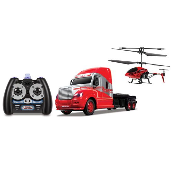 World Tech Toys MegaHauler 3.5CH Helicopter And Electric RC Truck IR Combo Pack