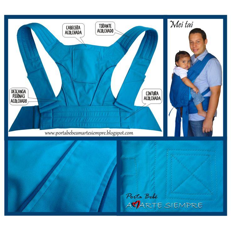 Meitai Amarte Siempre Color Azul Cian, Ref: 009, confeccionado en Algodón y con acolchado. Perfecto para todo tipo de climas y para niños desde los 5 meses hasta los 3 años de edad o 20 kilos de peso, Envíos a cualquier parte del país sin costo adicional.