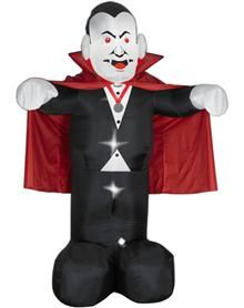 tall vampire dracula halloween airblown inflatable by gemmy yard decoration - Vampire Halloween Decorations
